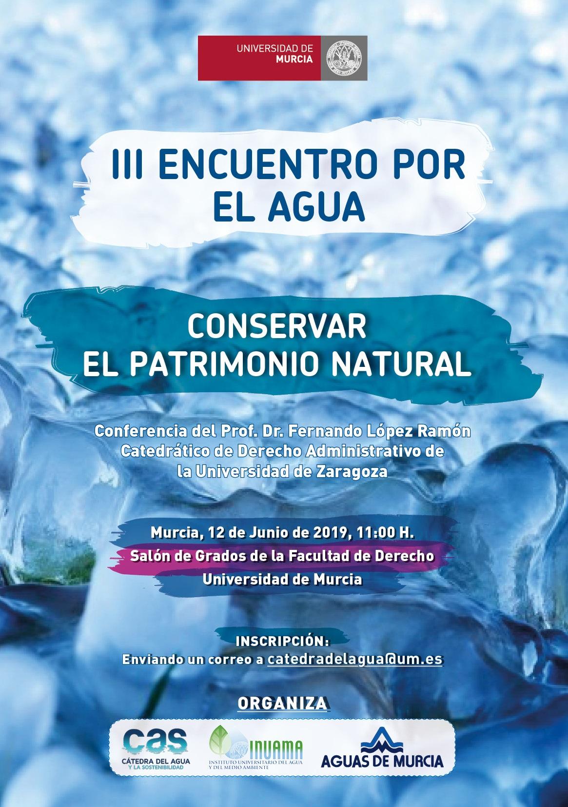 Cartel III Encuentro por el Agua