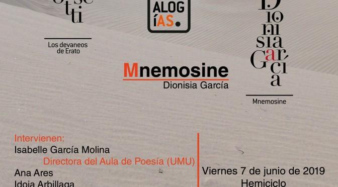 La Universidad de Murcia presenta dos libros de poesía de Dionisia García y Ana Rosetti