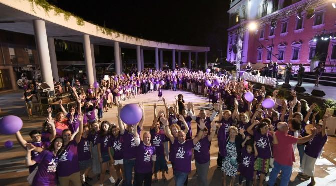 La Universidad de Murcia culmina el evento 'EnlazadODS con un lazo humano de 10.000 m 2 por la igualdad