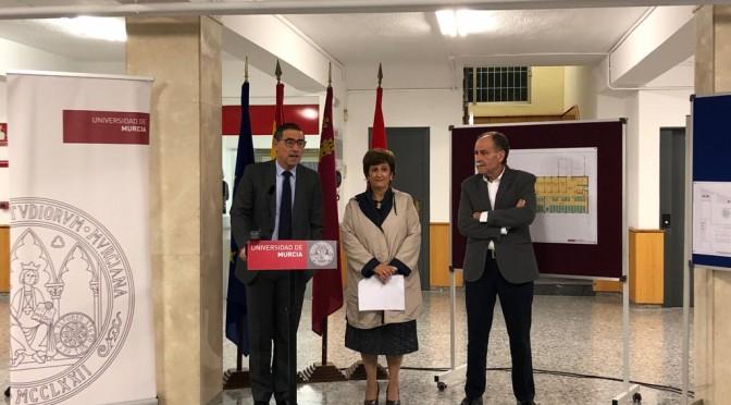 La Universidad de Murcia amplía con nuevas aulas el edificio Saavedra Fajardo y renueva sus espacios