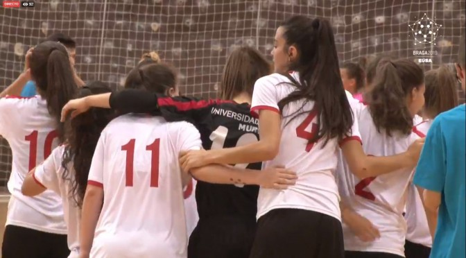 La Universidad de Murcia se clasifica para la final del Campeonato Europeo Universitario de Fútbol Sala femenino.
