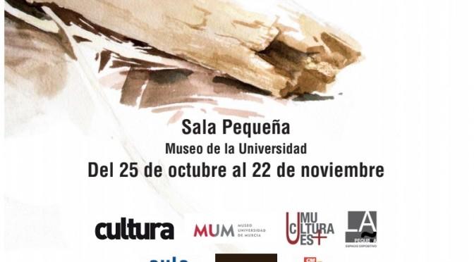 La Universidad de Murcia expone una muestra de acuarelas de Miranda Pastor