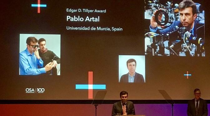 El catedrático de la UMU Pablo Artal recibe el prestigioso premio Edgar D. Tillyer