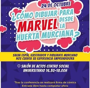 El dibujante de Marvel Salva Espín contará a estudiantes de la Universidad de Murcia su experiencia como emprendedor
