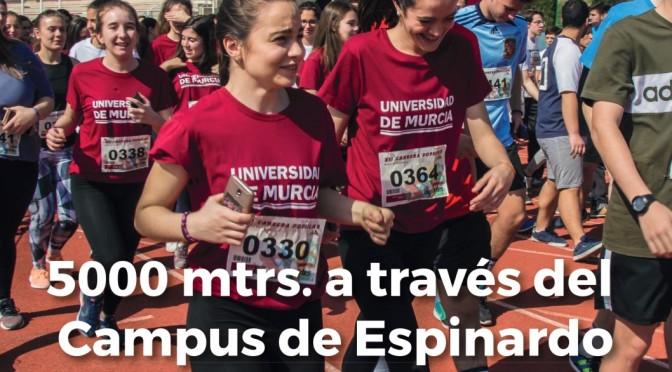 La UMU organiza este miércoles la octava carrera de bienvenida universitaria