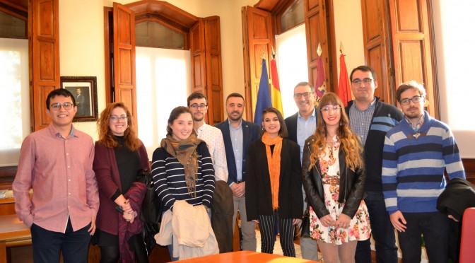 Los ganadores del premio Estudiante 2019 de la Universidad de Murcia son recibidos por el Rector José Luján