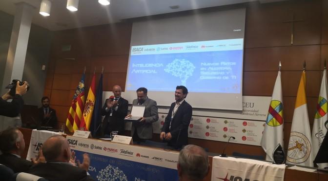 La Universidad de Murcia premiada por ISACA Valencia en la categoría 'Gobierno de Sistemas de información 2019'