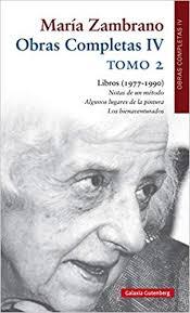 Se presenta hoy en el Museo Ramón Gaya un nuevo volumen de las obras completas de María Zambrano
