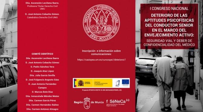 Un congreso de la UMU aborda la seguridad vial en relación con el deterioro de aptitudes del conductor senior