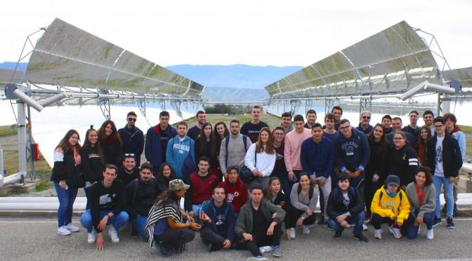 Estudiantes de Química y Biología de la UMU conocen el mayor centro de energías renovables de España