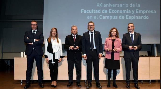 La facultad de Economía y Empresa de la UMU cumple 20 años en el Campus de Espinardo