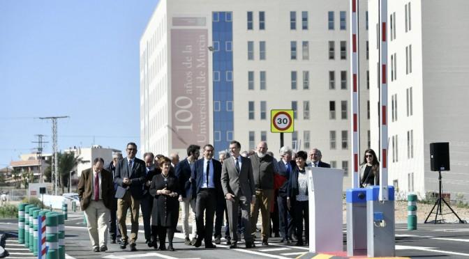 La Universidad de Murcia inaugura un nuevo acceso al aparcamiento de Ciencias de la Salud