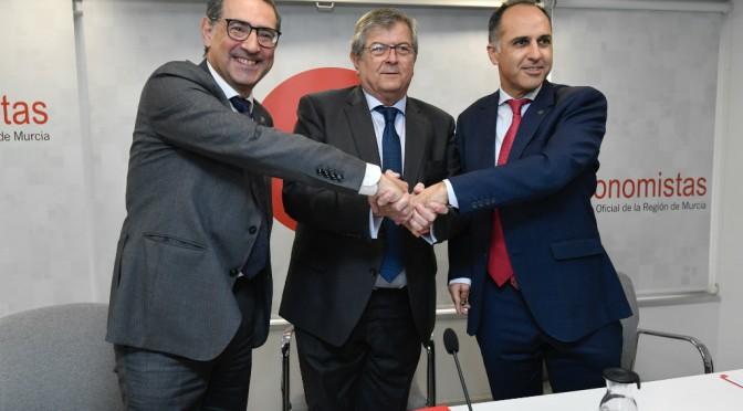 La Universidad de Murcia, la UPCT y el Colegio de Economistas se unen para crear la Cátedra de Competitividad