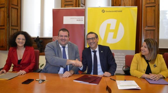 La UMU y Fundación Hefame firman un convenio para la creación de una cátedra de I+D+i de gestión farmacéutica