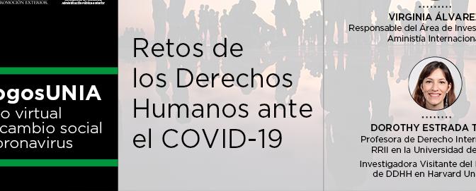 La profesora de Derecho Internacional Dorothy Estrada participa en Retos de los Derechos Humanos ante el Covid-19″ de la UNIA