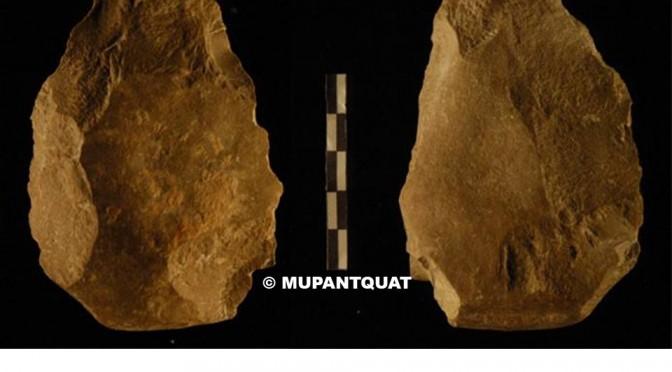Un artículo afirma que el hacha de mano encontrada en el Estrecho del río Quípar podría ser la más antigua encontrada en Europa