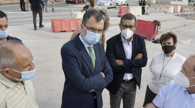 La obra de la nueva rotonda de acceso del Campus de Espinardo de la Universidad de Murcia desde la A-30 encara su fase final